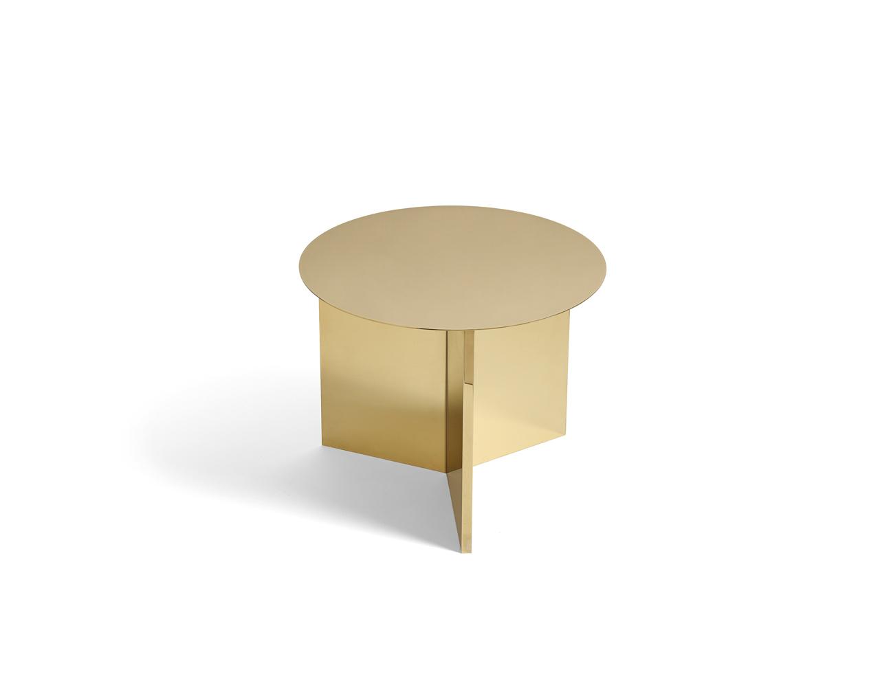 Slit Side Table Round Brass 2nd Floor