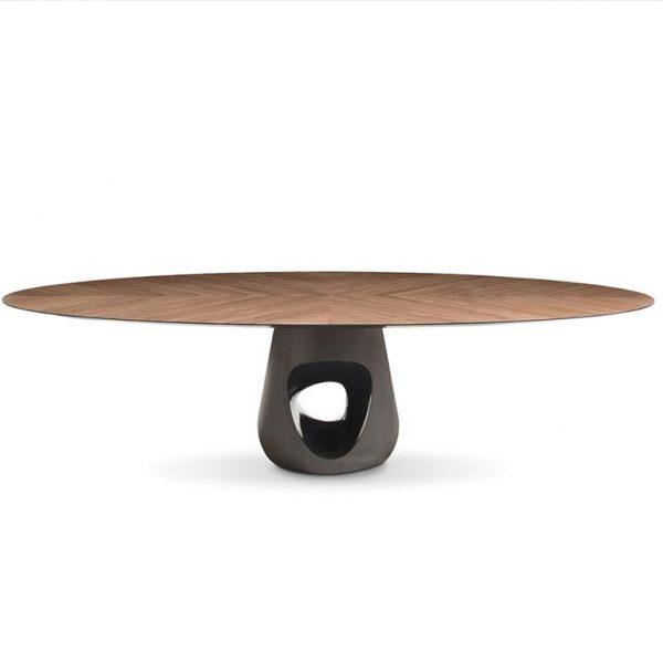 Barbara-Table-Ø140-Walnut