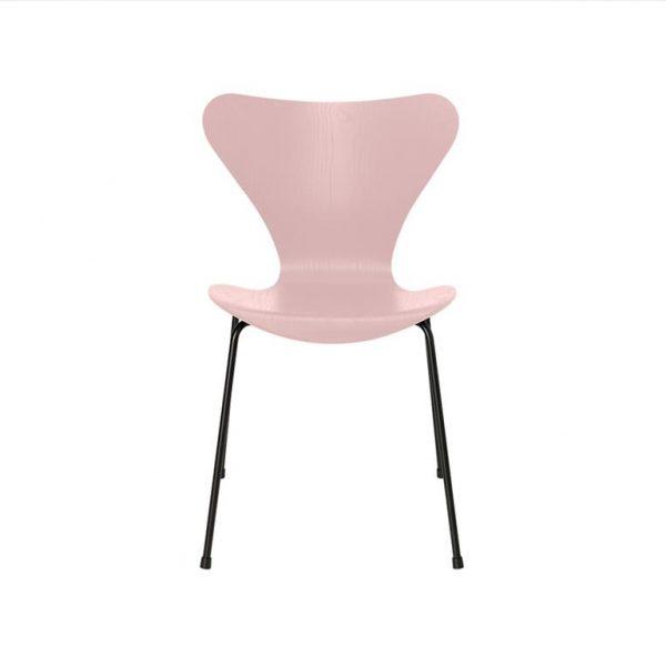 Series-7-Chair-3107-Coloured-Ash-Pale-Rose-Base-Black