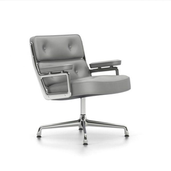 Lobby-Chair-ES-105Cement-LeatherChrome-Base