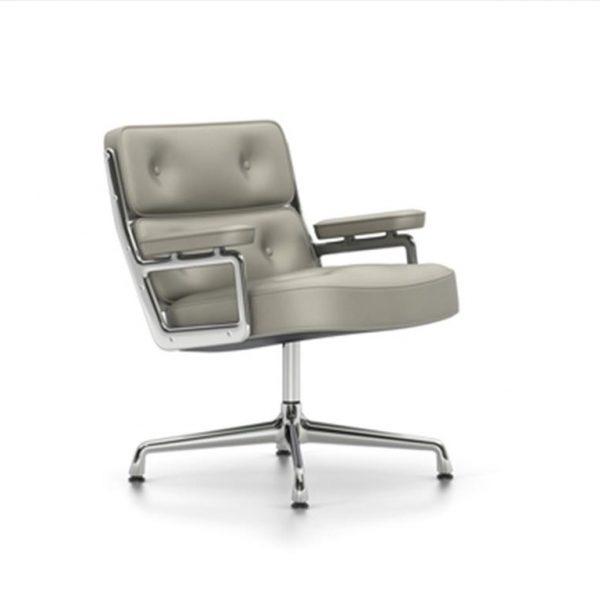 Lobby-Chair-ES-105Clay-LeatherChrome-Base