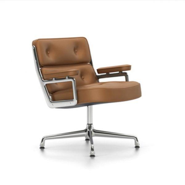 Lobby-Chair-ES-105Cognac-LeatherChrome-Base