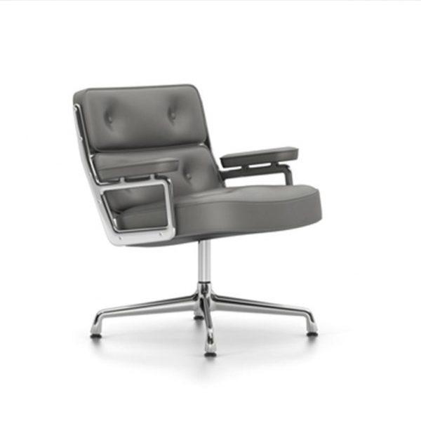 Lobby-Chair-ES-105Dim-Grey-LeatherChrome-Base