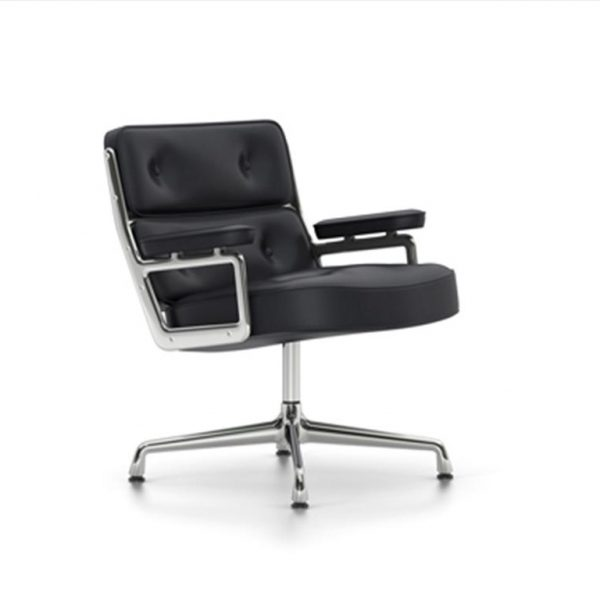 Lobby-Chair-ES-105Nero-LeatherChrome-Base