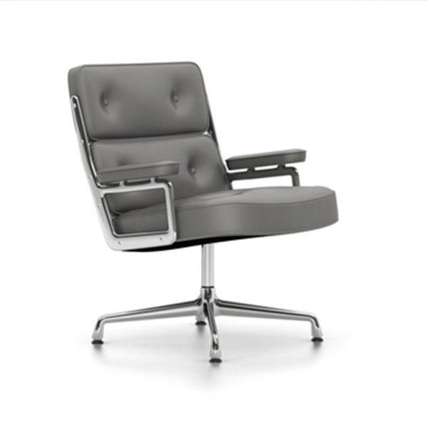 Lobby-Chair-ES-108Dim-Grey-LeatherChrome-Base