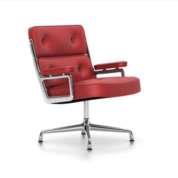 Lobby-Chair-ES-108Red-LeatherChrome-Base