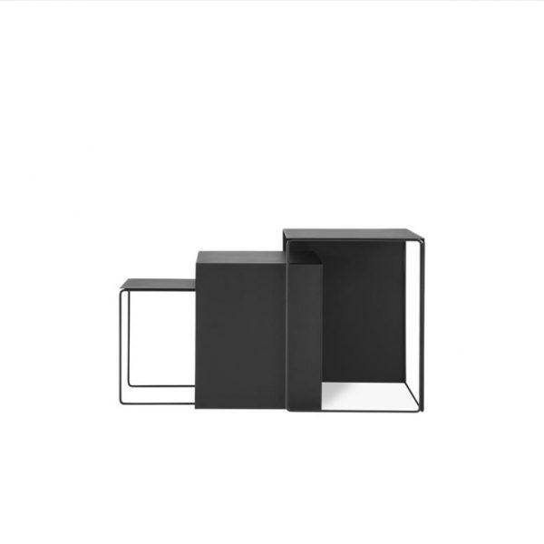 Cluster-Tables-Black-Set-of-3