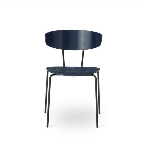 Herman-Dining-Chair-Dark-BlueBlack-Base