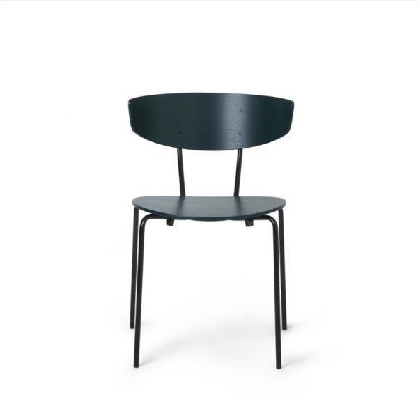 Herman-Dining-Chair-Dark-GreenBlack-Base