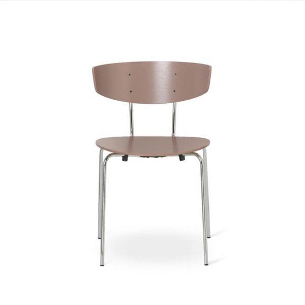 Herman-Dining-Chair-Dark-RoseChrome-Base
