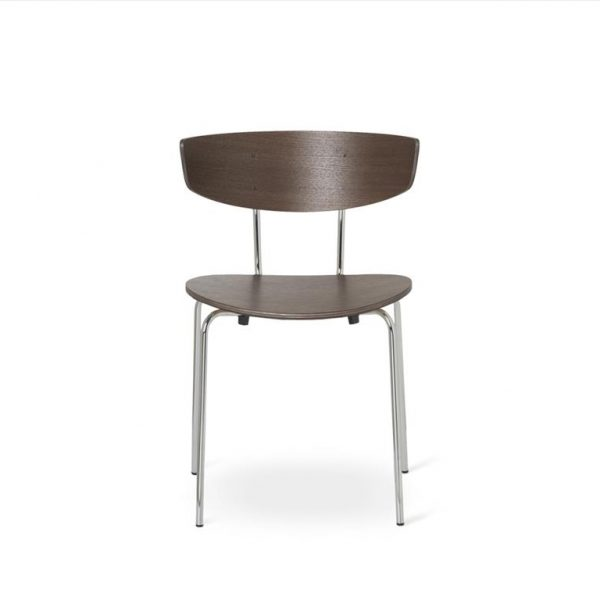 Herman-Dining-Chair-Dark-Stained-OakChrome-Base