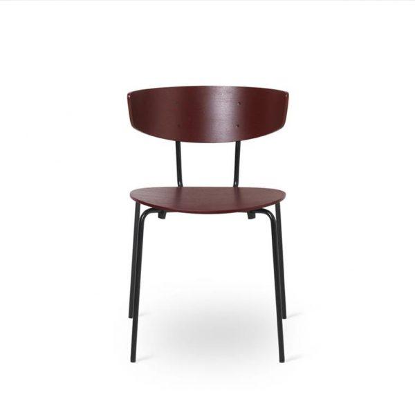 Herman-Dining-Chair-Red-BrownBlack-Base