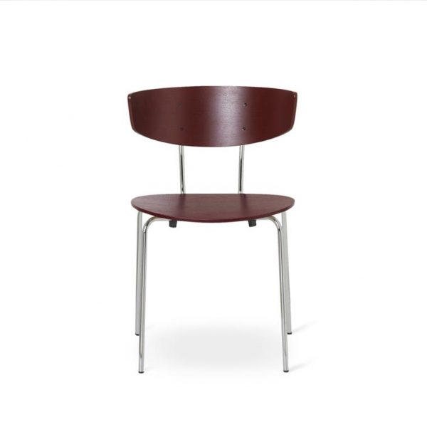 Herman-Dining-Chair-Red-BrownChrome-Base