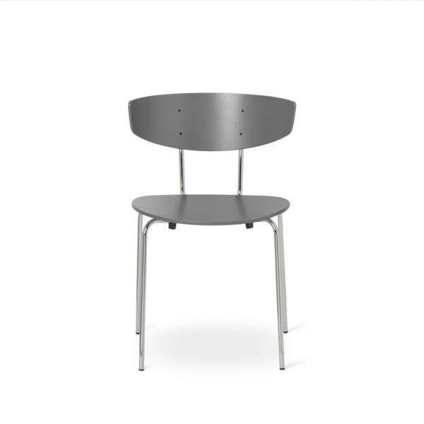 Herman-Dining-Chair-Warm-GreyChrome-Base