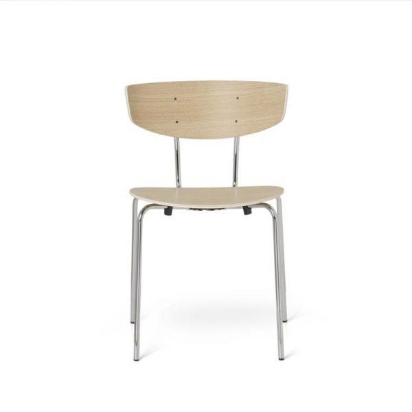 Herman-Dining-Chair-White-Oiled-OakChrome-Base
